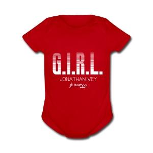 Girl Shirt - Short Sleeve Baby Bodysuit