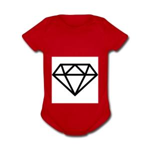 diamond outline 318 36534 - Short Sleeve Baby Bodysuit
