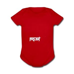 FROST TEXT LOGO - Short Sleeve Baby Bodysuit