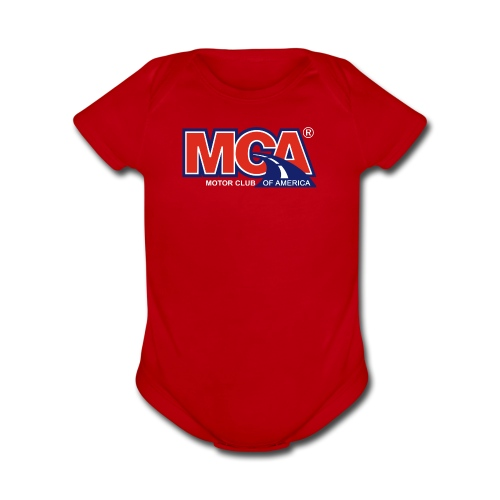 MCA Logo Transparent - Organic Short Sleeve Baby Bodysuit
