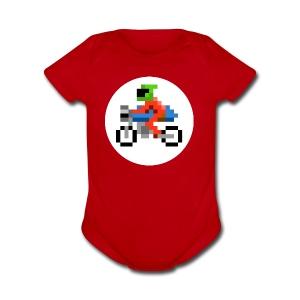 Cafe Biker - Short Sleeve Baby Bodysuit