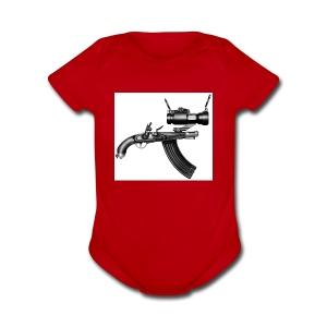Ugly Gun - Short Sleeve Baby Bodysuit