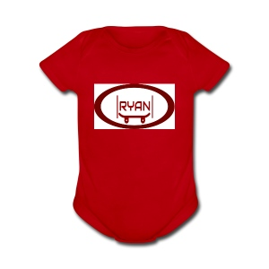 RYAN'S KEWL LOGO - Short Sleeve Baby Bodysuit