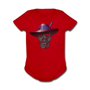 Zoot suit Hat and Gas Mask - Short Sleeve Baby Bodysuit