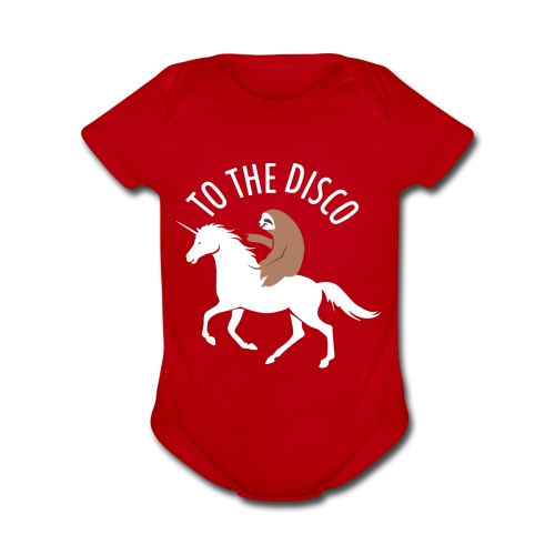TO THE DISCO - Organic Short Sleeve Baby Bodysuit