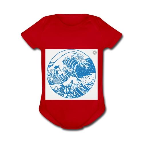 Wave - Organic Short Sleeve Baby Bodysuit