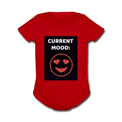 Love current mood by @lovesaccessories - Organic Short Sleeve Baby Bodysuit