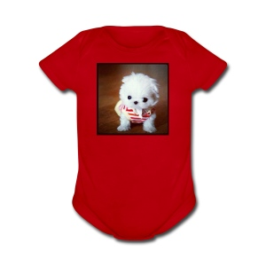 Snow ball - Short Sleeve Baby Bodysuit