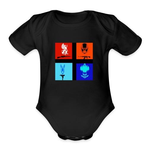 NitrosNaniacs logo - Organic Short Sleeve Baby Bodysuit
