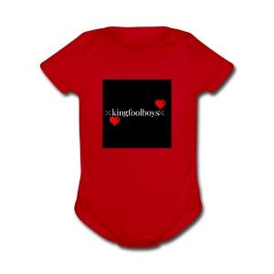 KIngfoolboys - Short Sleeve Baby Bodysuit