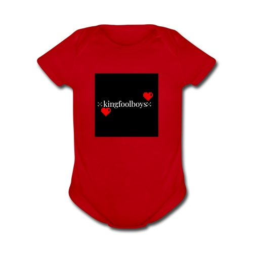 KIngfoolboys - Organic Short Sleeve Baby Bodysuit