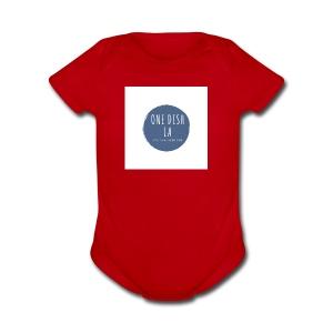 One Dish LA 1 1 - Short Sleeve Baby Bodysuit