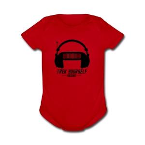 Trek Yourself Podcast Logo - Short Sleeve Baby Bodysuit