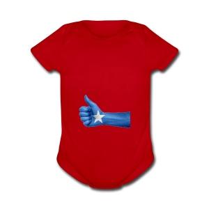 somalia - thumps Up - Short Sleeve Baby Bodysuit