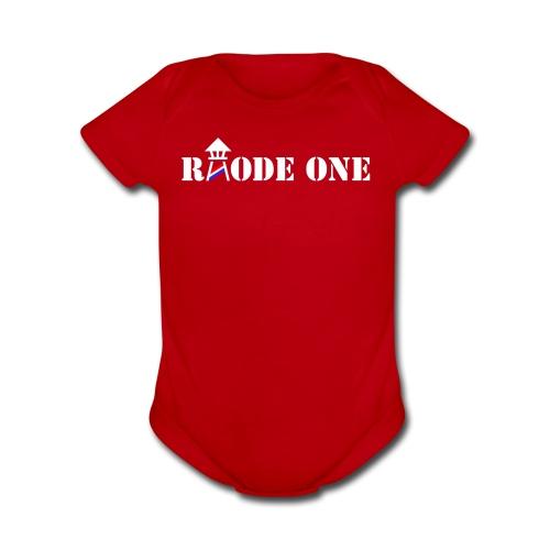 Rhode One logo - Organic Short Sleeve Baby Bodysuit