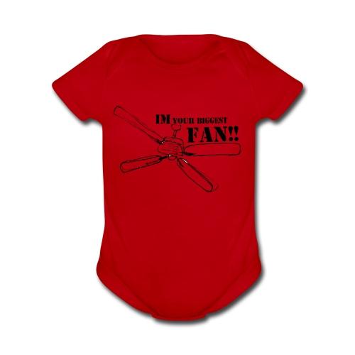 Im your biggest fan - Organic Short Sleeve Baby Bodysuit