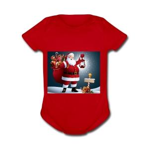 christmas - Short Sleeve Baby Bodysuit