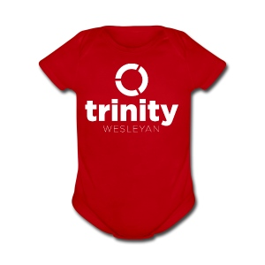 Trinity Centered white - Short Sleeve Baby Bodysuit