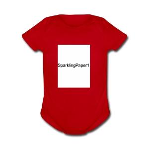 SparklingPaper1 - Short Sleeve Baby Bodysuit
