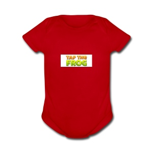 Tap the frog - Short Sleeve Baby Bodysuit