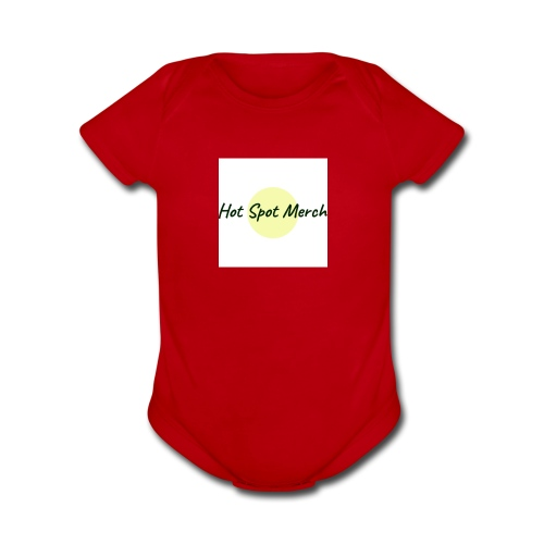 Hot Spot Merch W/ Circle - Organic Short Sleeve Baby Bodysuit