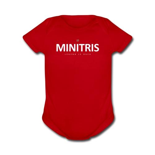 Minitris Puzzle Legend Is Back Official Wear - Organic Short Sleeve Baby Bodysuit