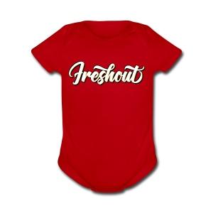 FRESHout Bubble Logo - Short Sleeve Baby Bodysuit