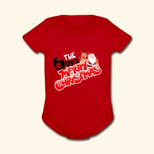 The 6oys Christmas Edition - Short Sleeve Baby Bodysuit