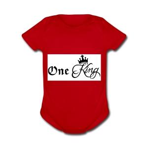 One king - Short Sleeve Baby Bodysuit