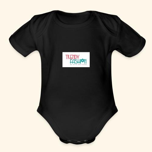 Trendy Fashions Go with The Trend @ Trendyz Shop - Organic Short Sleeve Baby Bodysuit