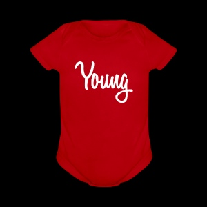 Simple Young Shirt - White Logo - Short Sleeve Baby Bodysuit