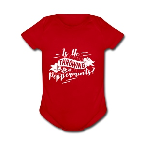 Throwing Peppermints? - Short Sleeve Baby Bodysuit