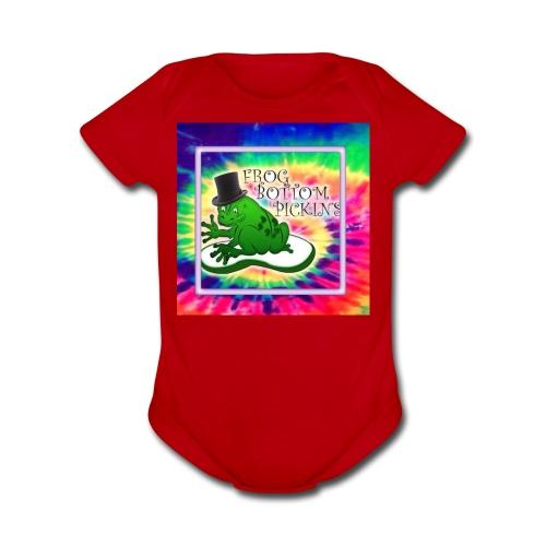 frog bottom pickens - Organic Short Sleeve Baby Bodysuit