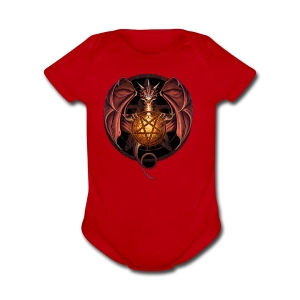 Satanic Dragon - Short Sleeve Baby Bodysuit