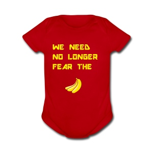 No fear the Banana - Short Sleeve Baby Bodysuit