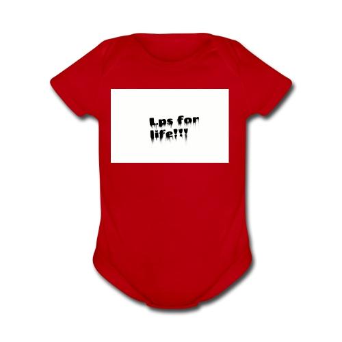 Lps for life!! - Organic Short Sleeve Baby Bodysuit