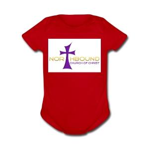 NB long logo - Short Sleeve Baby Bodysuit