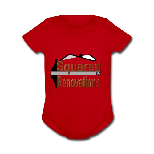 Squared Renovations LLC - Organic Short Sleeve Baby Bodysuit