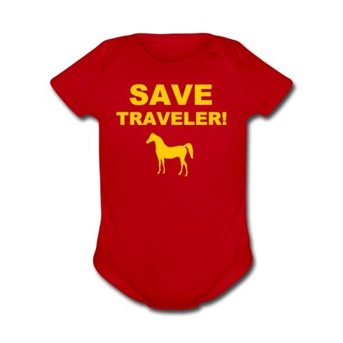 Save Traveler - Organic Short Sleeve Baby Bodysuit