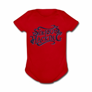 serious hacking decoration design - Short Sleeve Baby Bodysuit