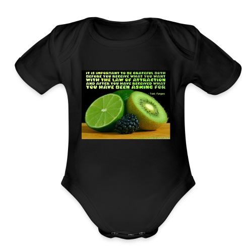 Be Grateful - Organic Short Sleeve Baby Bodysuit