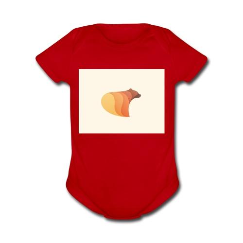 browen bear - Organic Short Sleeve Baby Bodysuit