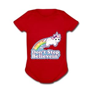 Don't Stop Believe'in - Short Sleeve Baby Bodysuit