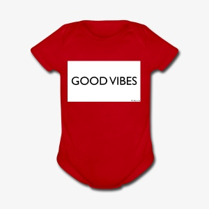 Rockos Co GOOD VIBES - Short Sleeve Baby Bodysuit