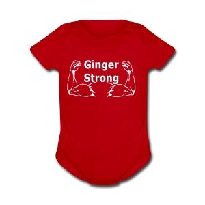 Ginger Strong White - Short Sleeve Baby Bodysuit