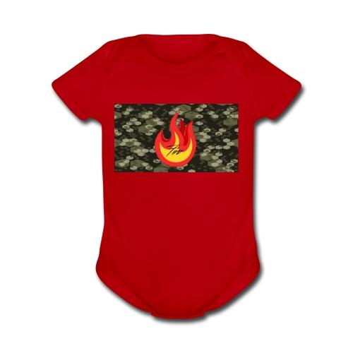 FireBrandV2 - Organic Short Sleeve Baby Bodysuit
