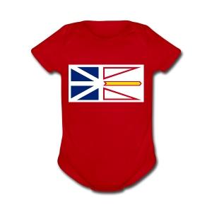 1200px Flag of Newfoundland and Labrador svg - Short Sleeve Baby Bodysuit