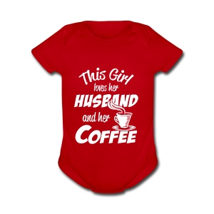 husband and coffee - Short Sleeve Baby Bodysuit