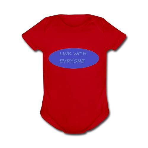 link with everyone - Organic Short Sleeve Baby Bodysuit