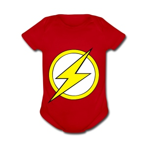 Kid Flash Logo - Second Channel - Short Sleeve Baby Bodysuit